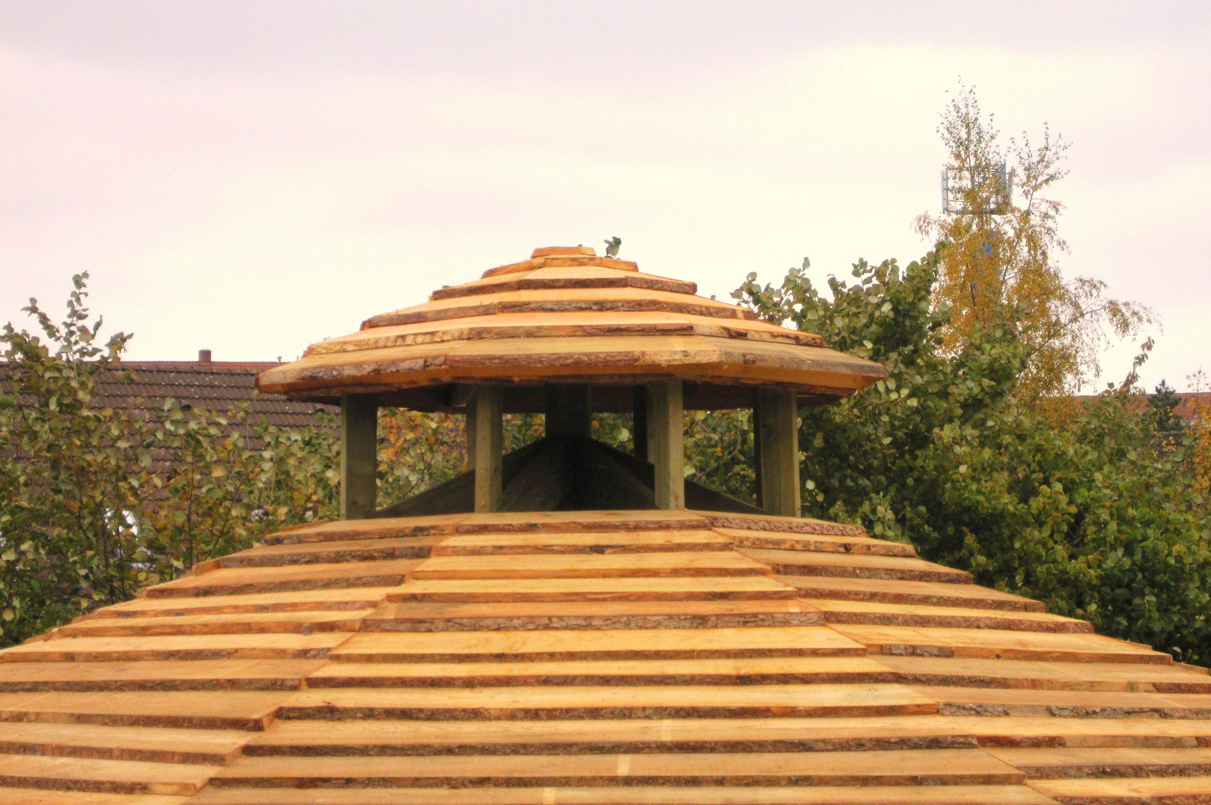 Regndæk/røgstop til alle former for bålhuse og bålhytter