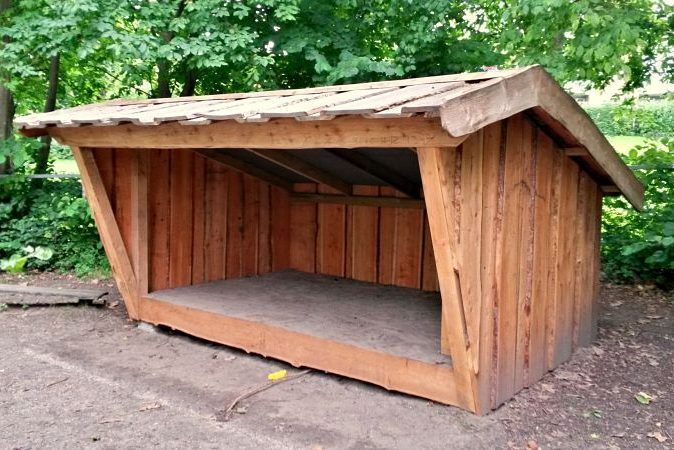 Perfekt shelter til fx overnatning i douglas og lærk